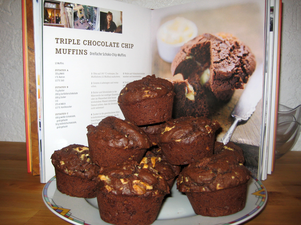 Triple Chocolate Chip Muffins nach Cynthia Barcomi
