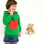 Hoodie Kinder Apfel smaragd rot
