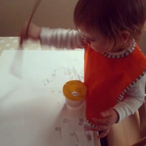 Mit Wasser malen