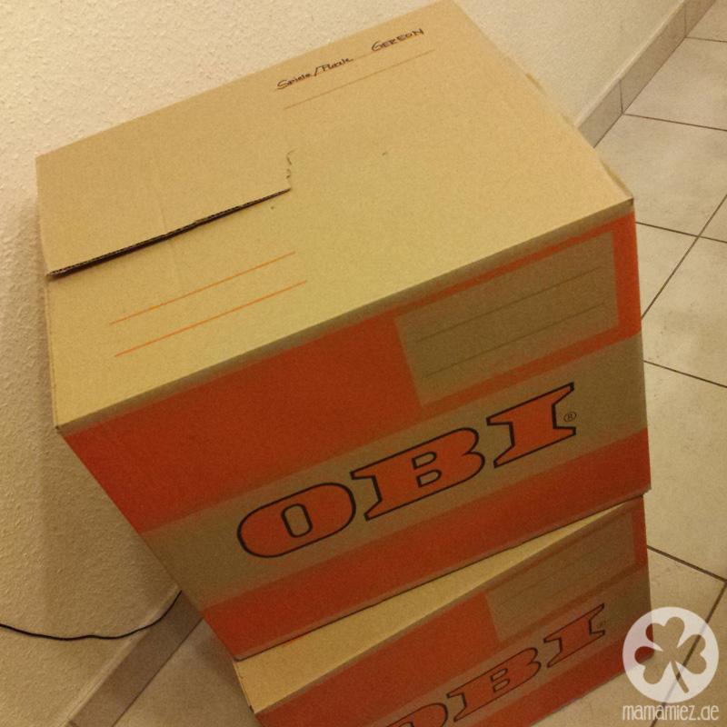 Ich packe Kisten und nehme mit …